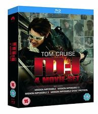 Brand New! MISSION IMPOSSIBLE 1-4 Movie Blu-ray Quadrilogy Set Region Free