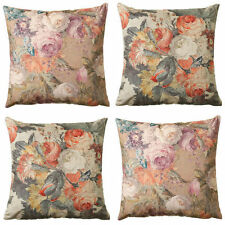 Floral Square Traditional 100% Cotton Decorative Cushions