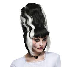 Bride of Frankenstein Adult Wig Lady Monster Corpse Black Beehive Streaks