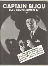 Captain Bijou #13 F/VF 1989 Charlie Chan cover