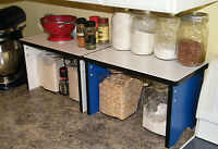 Kitchen Counter Small Shelves Shelf Organizer  Wood  Storag Canister Stackable
