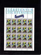Liechtenstein Noel Multicolores 35 r   feuille 20 TP n° 804