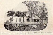 AVARUA MAISON REUNION PARLEMENT ILE RAROTONGA ARCHIPEL COOK IMAGE 1902 PRINT