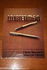 BB8=1972=WATERMAN PENNA PEN=PUBBLICITA'=ADVERTISING=WERBUNG=