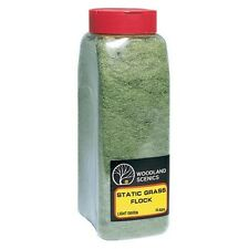 Woodland Scenics FL634 Static Grass Flock Light Green 32 oz Shaker - NIB