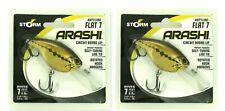 (2) Storm Arashi Rattling Flat 7 Circuit Board Lip Crankbaits Baby Bass Aft07682