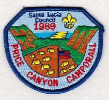 BSA new, mint 1989 pre-merged Santa Lucia Area Council Camporall Boy Scout patch