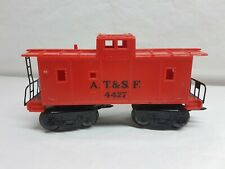 Marx 4427 027 Scale A.T.&S.F Red Caboose Vintage 1950s Train Track Cast Wheels