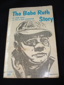The Babe Ruth Story As told to Bob Considine Vintage Baseball Book (T-353) 1963