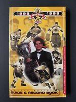 NHL ~ 1998-99 Boston Bruins Guide & Record Book   M2226