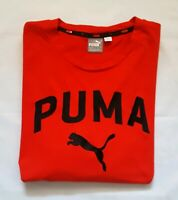 Puma  T-Shirt High Risk Red with Black Embroidred Logo Size XL