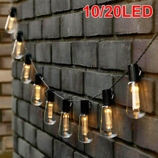New listing Solar Powered 10-20Led String Light Garden Path Yard Lamp Outdoor Waterproof Us