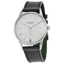 Nomos Orion 38 Datum Weib White Dial Stainless Steel Mens Watch 381