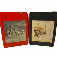 Lot of 2 Chicago & Chicago's Greatest Hits  8 Track Tested & Works