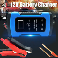 12V 6A Pulse Repair Intelligent LCD Car Jump Starter Battery Charger Motorcycle