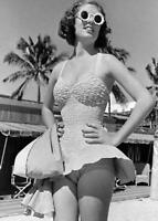Vintage Photo... Beach Babe 1950s , Sunglasses ... Photo Print 5x7