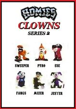 Homies Clowns Series 2 - 6 Figures set  w/ red Ese
