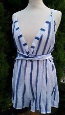 ASOS Womens Summer Holiday Stripe Playsuit Jumpsuit Beach Shorts UK 14 B251-10