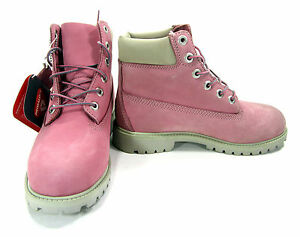 Timberland Shoes 6 Inch Premium Juniors Baby Pink Boots Men 5.5 Womens 7.5