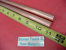 2 Pieces 12 C110 Copper Round Rod 11 Long H04 Solid Cu New Lathe Bar Stock