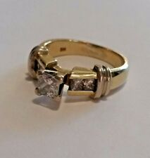 .95ct Princess Cut Diamond Engagement Ring - 14kt Yellow Gold
