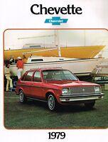 1979 Chevy CHEVETTE Brochure / Pamphlet w/Color Chart: SCOOTER,HATCHBACK,SEDAN,