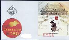 BULGARIA 2020 Chinese New Year of the Rat - S/S FDC MNH