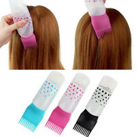 Hair Dye Bottle Shampoo Hair Coloring Dyestuff Applicator Bottle with Comb D$N