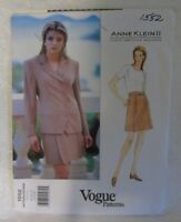 ANNE KLEIN II Vogue Pattern Uncut 1995 Jacket & Skirt #1552 Size 8 10 12
