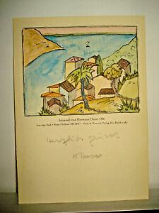 Hermann Hesse Autograph original Widmung alte AK Karte Unterschrift signiert