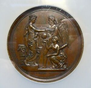 J-AM-16, 1854 EXHIBITION OF THE INDUSTRY OF ALL NATIONS, BRONZE 57mm NGC MS62 BN