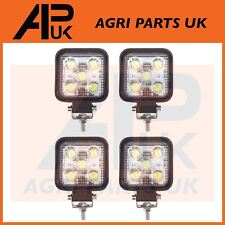 4 x 15W LED work Light Lamp 12V Flood Beam 24V Square Trailer Offroad 4X4 Digger