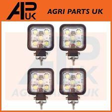 4 X 15W LED Trabajo Luz Lámpara 12V luz de inundación 24V Cuadrado Remolque Offroad 4X4 Digger