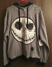 Jack Skellington Disney Nightmare Before Christmas Zip Men's Hoodie XXL 2XL NWT