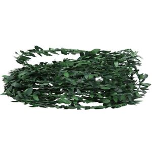 Green Vine Leaf Cut Ribbon Ivy Wreath Artificial Vine Tape With Leaves For