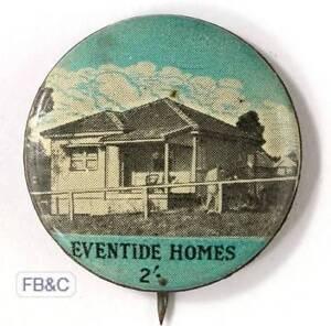 Vintage Eventide Homes 2/- Appeal Badge