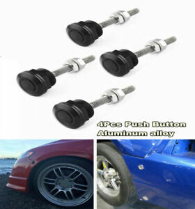 22mm Push Button Bonnet Hood Pin Lock Clip Kit Car Quick Release Bumper Latch 4X