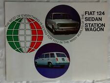 Fiat 124 Sedan Station Wagon Brochure Advertising c 1968 Car Auto