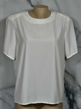 NOTATIONS White Shell Top 14 Short Sleeves Unlined Polyester Made in USA