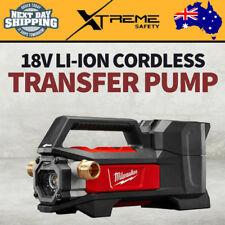 New MILWAUKEE Heavy Duty 18V Li-Ion Cordless Transfer Pump 1817L/hr - Skin Only