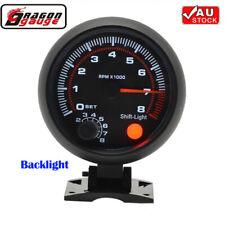 "3.75"" Car 12V Tachometer Tacho Gauge Meter 0-8000 RPM Shift Light Universal"