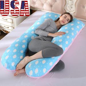U-Shape Pregnancy Pillow Maternity Contoured Body Support Feeding Cushion USA