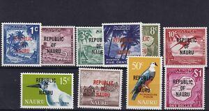 NAURU 1968 Pictorial set ovpt (no 4c, 7c & 30c) 1334