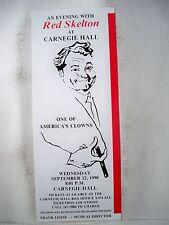 RED SKELTON Herald CARNEGIE HALL NYC 1990