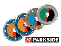 Parkside Diamond Cutting Disc Set, 4-piece set 110mm blade 1.2mm