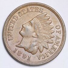 1891 Indian Head Small Cent CHOICE UNC FREE SHIPPING E134 ACL