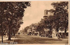 SOUTHPORT Lord Street - OldOriginal POSTCARD - Busy Street Scene Cars People Bus
