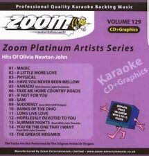 ZOOM  KARAOKE CDG   platinum  volume 129  HITS OF OLIVIER NEWTON JOHN  15 TRACKS