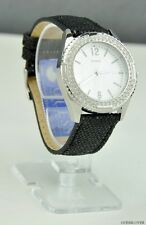 FREE Ship USA Chic Ladies Watch GUESS Black Leather New U0310L1 Prime Lovely