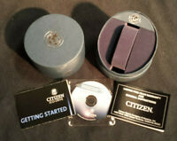 Empty Citizen Eco Drive Mens Watch Box Presentation Case with warranty & CD